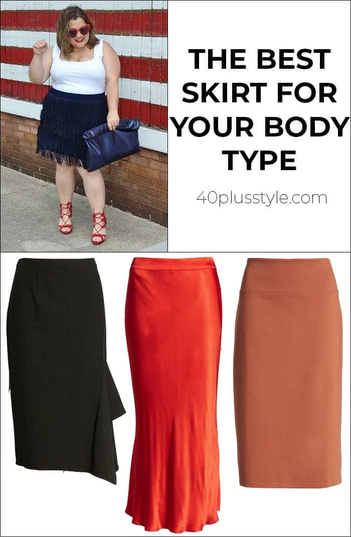 The best skirt for your body type | 40plusstyle.com