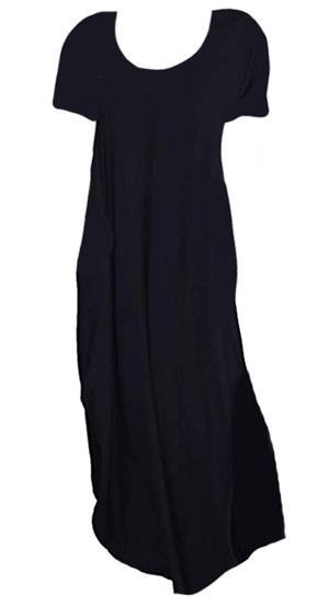 black maxi dress | 40plusstyle.com