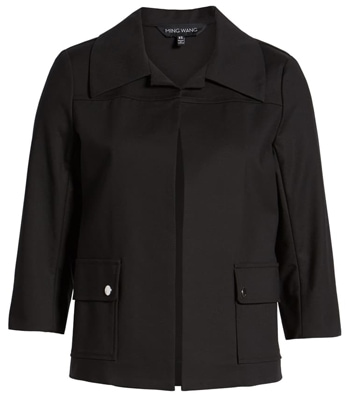 Black cropped jacket | 40plusstyle.com
