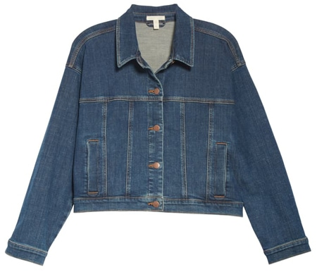 Cropped jean jacket | 40plusstyle.com