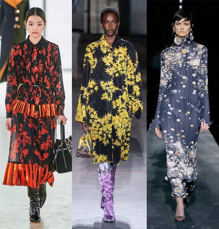 Dark florals in the fall 2019 trends | 40plusstyle.com