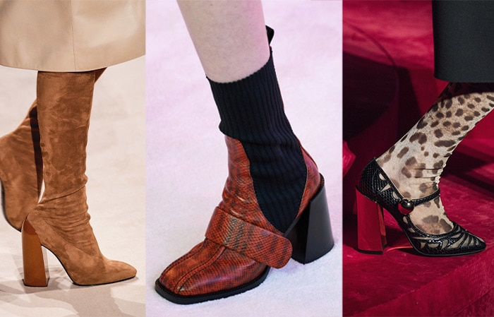 Trendy shoes for flared block heels | 40plusstyle.com