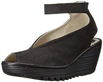 FLY London Yala perforated wedge sandal | 40plusstyle.com