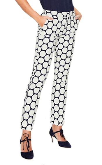 geometric print trousers | 40plusstyle.com