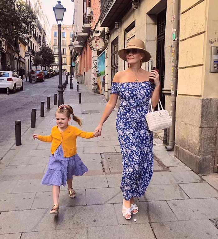 off shoulder maxi dress |40plusstyle.com