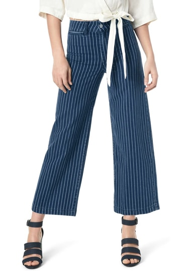 wide-leg patterned pants | 40plusstyle.com