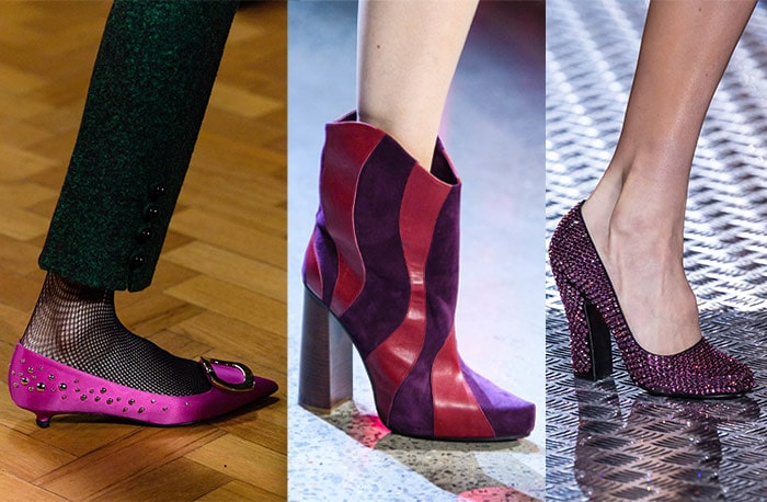 Purple shoes for fall 2019 | 40plusstyle.com