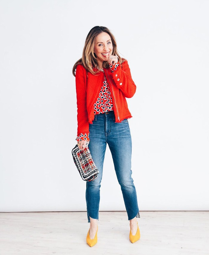 Cropped red jacket | 40plusstyle.com