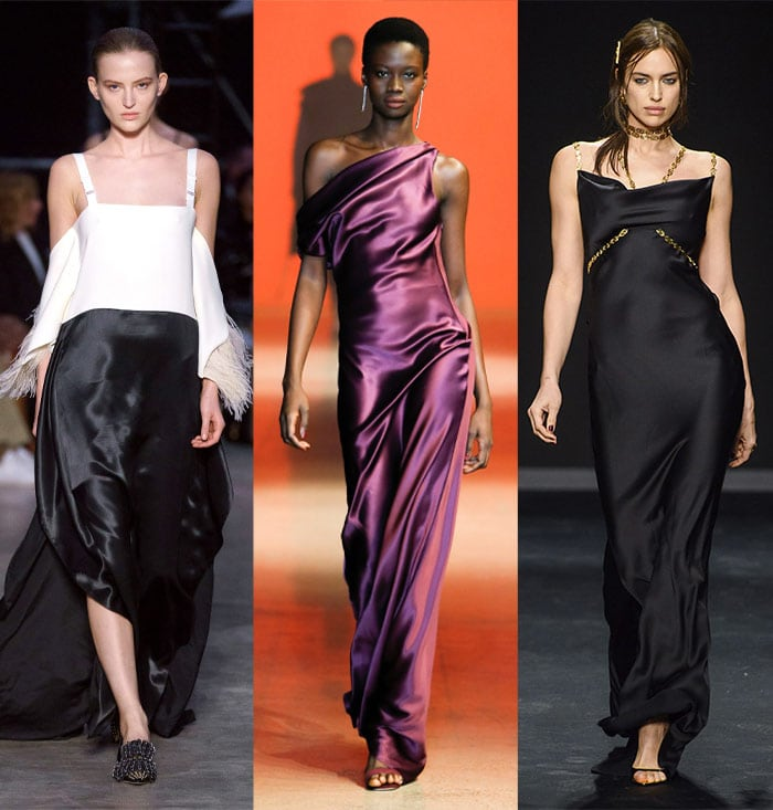 Satin in the fall 2019 trends | 40plusstyle.com