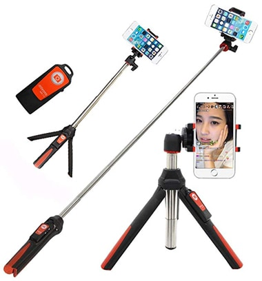 Benro selfie stick with tripod | 40plusstyle.com