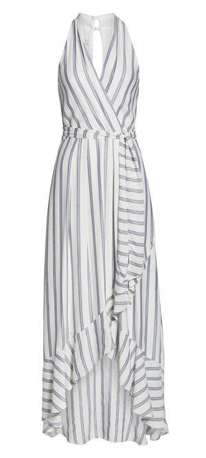 halter maxi dress | 40plusstyle.com