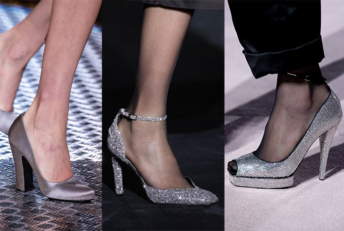 Trendy shoes with silver and sparkle | 40plusstyle.com