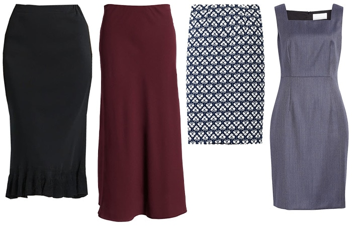 Skirts and dress for white tops | 40plusstyle.com