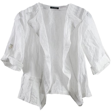 short white jackets styles for women over 40 | 40plusstyle.com