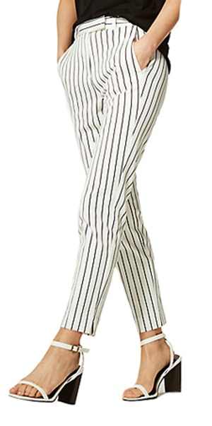 striped patterned pants | 40plusstyle.com