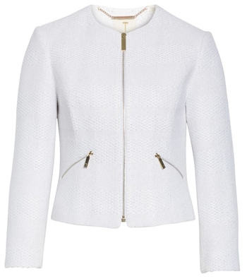 White cropped jacket | 40plusstyle.com