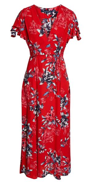wrap maxi dress | 40plusstyle.com