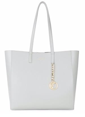 Versace Collection - Chain & Medallion-Detailed Leather Tote | 40plusstyle.com