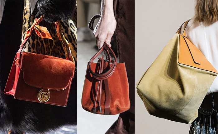 Suede bags in autumn shades | 40plusstyle.com