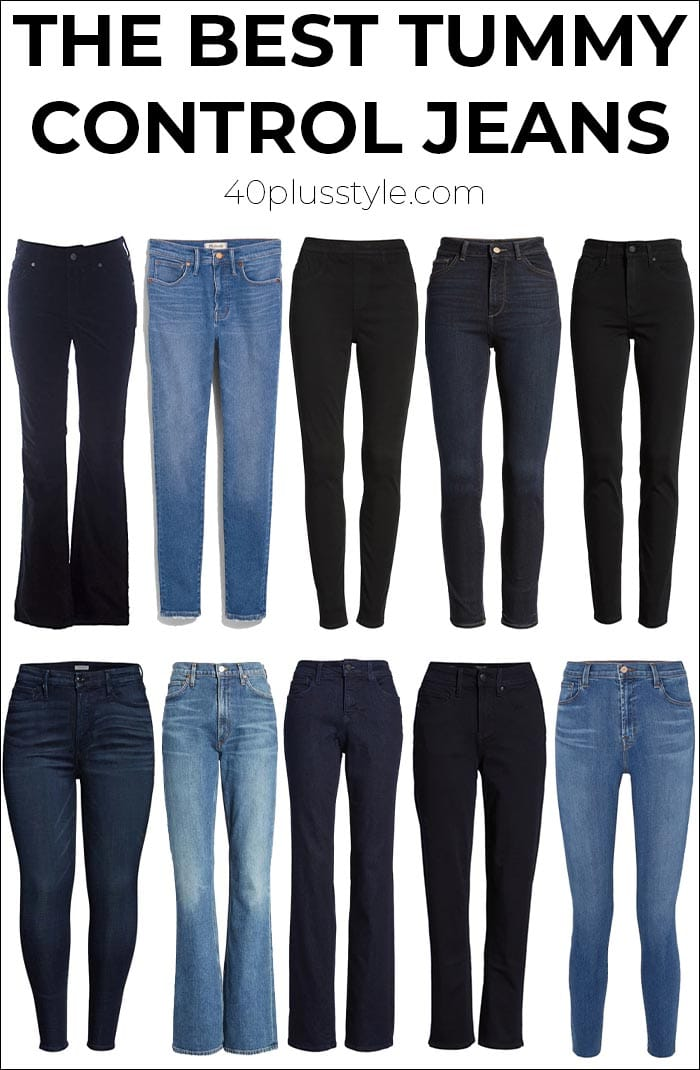 The best tummy control jeans to give you a smoother look | 40plusstyle.com