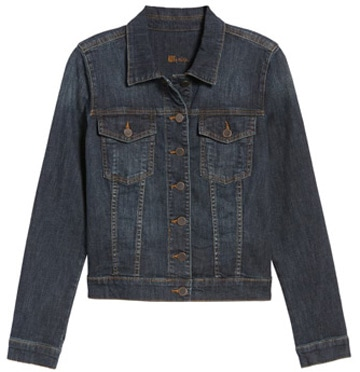 blue denim jacket | 40plusstyle.com