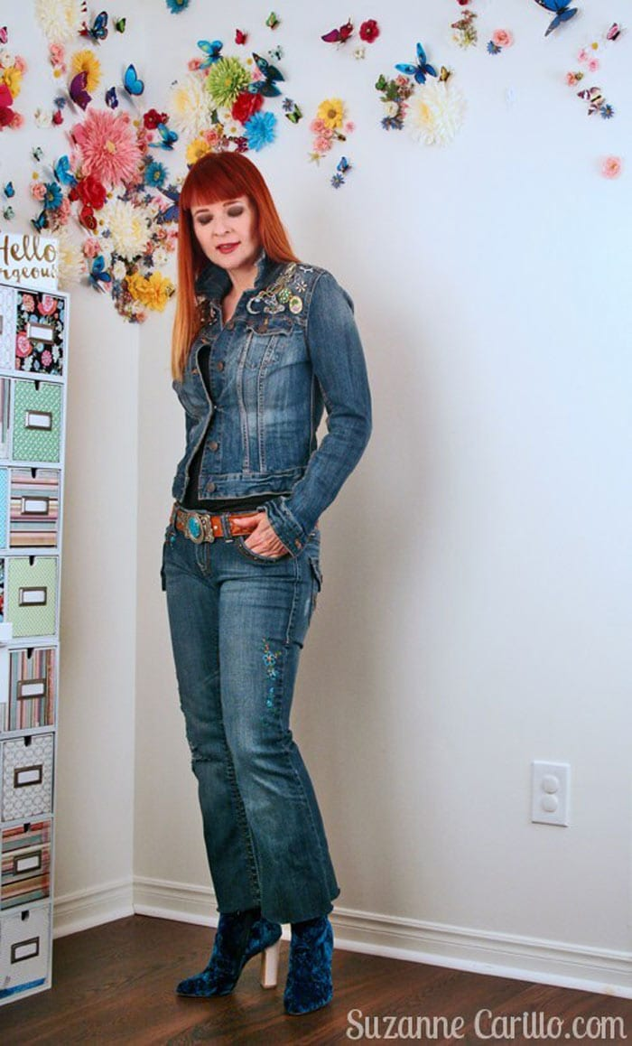 denim jacket and jeans   40plusstyle.com