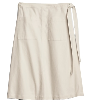Gap patch pocket wrap skirt | 40plusstyle.com