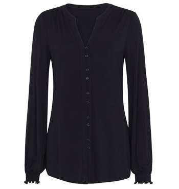 Long Tall Sally shirred jersey blouse | 40plusstyle.com