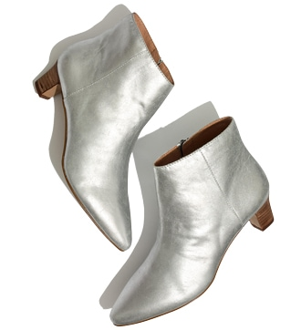 Madewell 'Portia' metallic boots | 40plusstyle.com