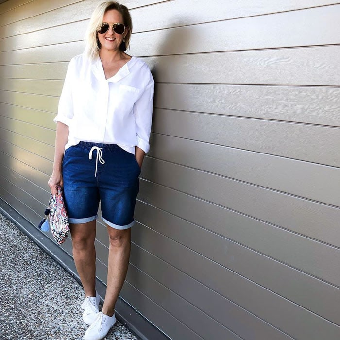 white shirts for tall women | 40plusstyle.com