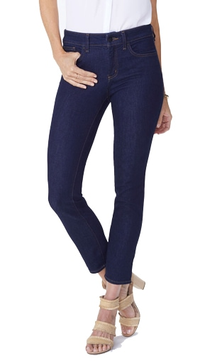 NYDJ 'Alina' skinny jeans | 40plusstyle.com