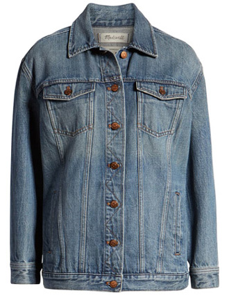 oversized denim jacket | 40plusstyle.com
