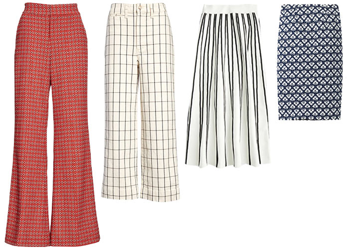 Patterned pants and skirts | 40plusstyle.com