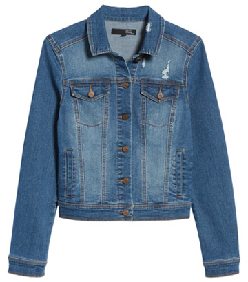 ripped denim jacket | 40plusstyle.com