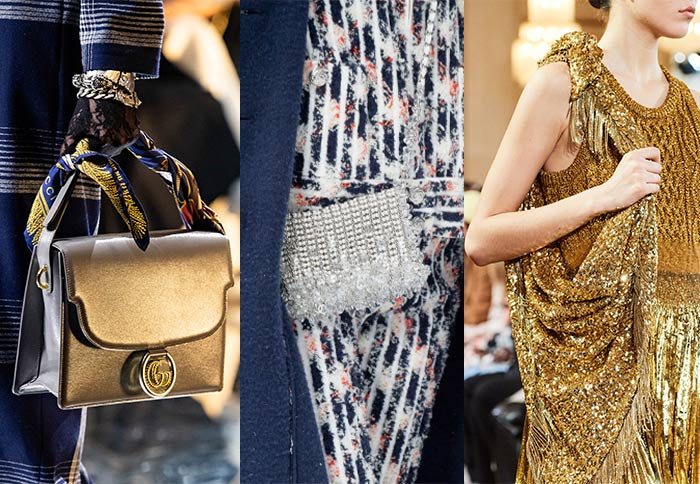 Handbag trends: Silver and gold bags | 40plusstyle.com