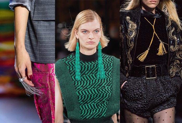 Tassels in the fall 2019 accessory trends | 40plusstyle.com