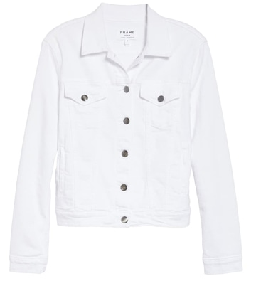 white denim jacket | 40plusstyle.com
