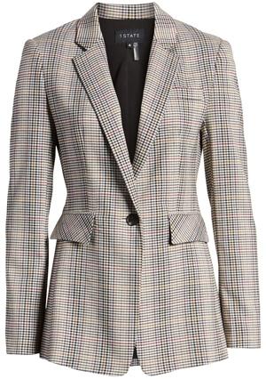1.State plaid blazer | 40plusstyle.com