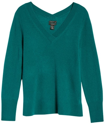 stylish v-neck sweaters | 40plusstyle.com