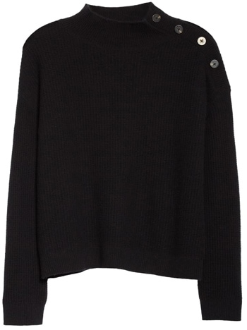 cashmere sweater with buttons | 40plusstyle.com