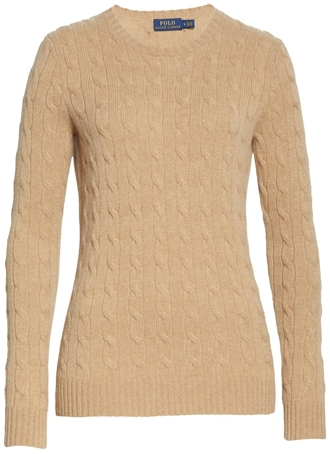 cable-knit cashmere sweater | 40plusstyle.com
