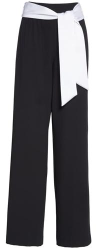 Alice + Olivia tie waist wide leg pants | 40plusstyle.com