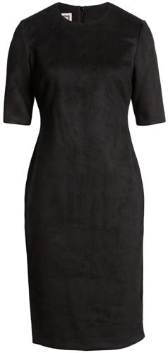 Anne Klein suede sheath dress | 40plusstyle.com