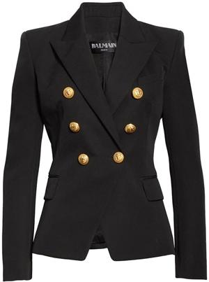 Balmain wool gabardine blazer | 40plusstyle.com