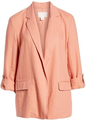 Caslon linen boyfriend blazer | 40plusstyle.com