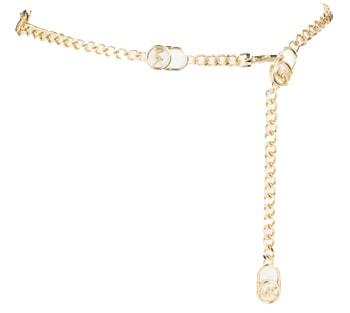 Michael Kors chain belt | 40plusstyle.com