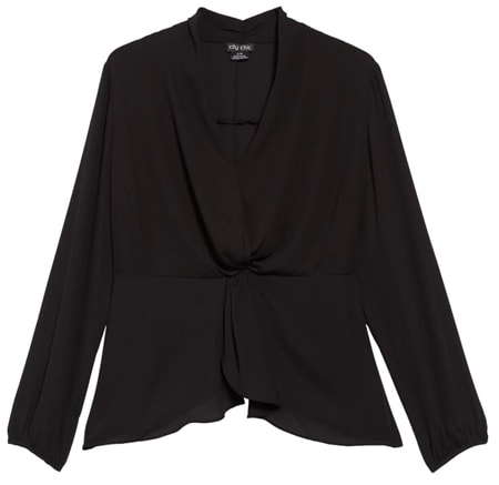 City Chic gathered top | 40plusstyle.com