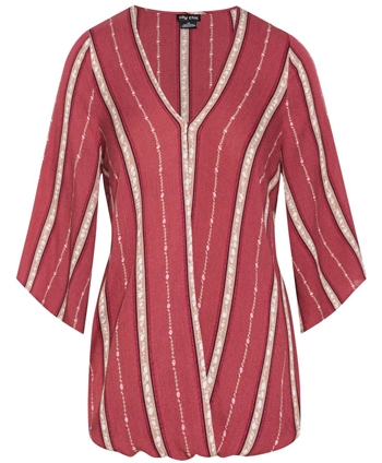 City Chic stripe surplice top | 40plusstyle.com