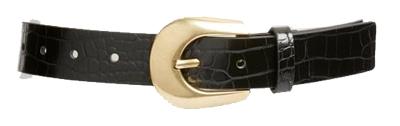 Something Navy croc embossed belt | 40plusstyle.com