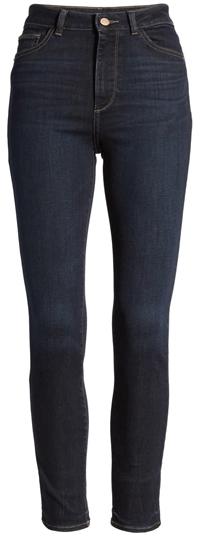 tummy control jeans - DL1961 instasculpt farrow high waist skinny jeans | 40plusstyle.com
